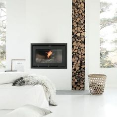 3 Stunning Diy Ideas: Minimalist Home Diy Bedroom Designs minimalist interior office storage.How To Have A Minimalist Home Apartment Therapy minimalist kitchen design chevron floor.Minimalist Interior Color Home Decor. House Design, Modern Interior Design, Fireplace Design, Minimalist Living Room, Minimalist Fireplace, Minimalist Decor, Minimalist Home, Scandinavian Fireplace, Home Decor
