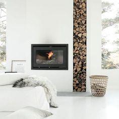 Un coin cheminée au style nordique