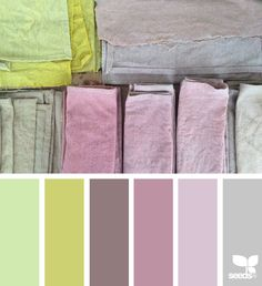 { color cloth } image via: @studiojanellegonyea  #colorpalette #color #palette #pallet #colour #colourpalette #design #seeds #designseeds