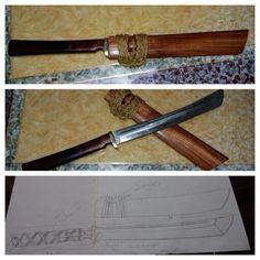 Wakizashi copper.. visit my facebook page.. 5zone kustom knives