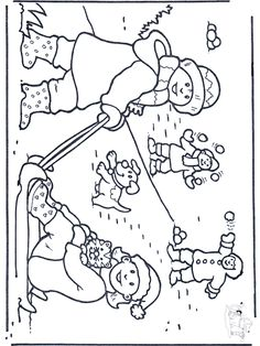 Free coloring pages snow - Snow Christmas Activities For Kids, Winter Crafts For Kids, Winter Kids, Winter Sports, Preschool Winter, Coloring Sheets For Kids, Free Coloring Pages, Coloring Books, Noel Christmas