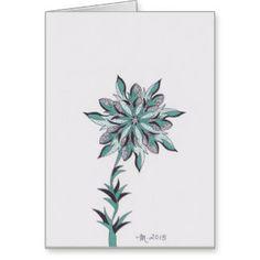 Modern flower k get well soon greeting card