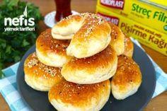 Enfes Poğaça Tarifi - Nefis Yemek Tarifleri Delicious Desserts, Yummy Food, Homemade Beauty Products, Bagel, Allrecipes, Waffles, Food And Drink, Appetizers, Bread