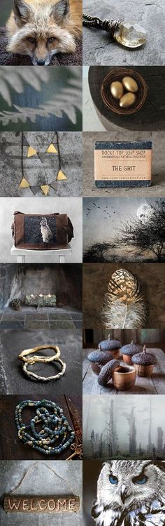 brave: to live deliberately by kim on Etsy--Pinned+with+TreasuryPin.com mood board and color palette