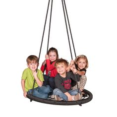 Web Riderz Nest Swing - Take a new spin on summertime swings with the Web Riderz Nest Swing. This spacious swing provides a roomy nest for a kid – and even a couple of ...