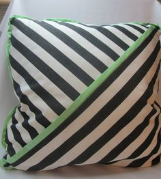 """22"""" poly stripe pillow and 4 coasters"""