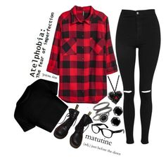 """""""Untitled #587"""" by pink-seahorse ❤ liked on Polyvore featuring Mudd, Topshop, Dr. Martens, West Coast Jewelry and Ray-Ban"""