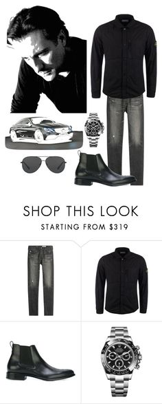 """""""Andy Garcia xo"""" by kotnourka ❤ liked on Polyvore featuring Garcia, AG Adriano Goldschmied, STONE ISLAND, Givenchy, Mercedes-Benz, Rolex, Michael Kors, men's fashion and menswear"""