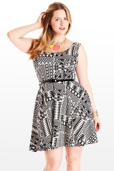 Since the dawn of fashion times, some rules never change, like that an adorable A-line dress in a funky modern print will cause hearts to melt, and free drinks to befall you....fashiontofigure.com