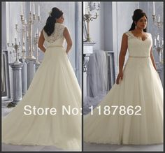 WD-0253 Plus Size Wedding Dress 2014 Fashionable Lace Wedding Dresses China Free Shipping US