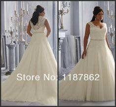 WD-0253 Plus Size Wedding Dress 2014 Fashionable Lace Wedding Dresses China Free Shipping US