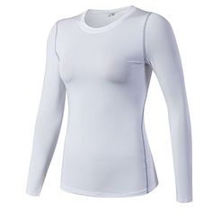 7983ccd3fc7ea AJISAI Women's Compression Shirt Dry Fit Long Sleeve Running Athletic  T-Shirt Workout Tops Workout