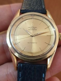 VINTAGE UNIVERSAL GENEVE POLEROUTER MICRO ROTOR , REF 20365-1 CAL 215 Watch Deals, Quality Watches, Cool Watches, Ebay, Accessories, Vintage, Cool Clocks, Vintage Comics, Primitive