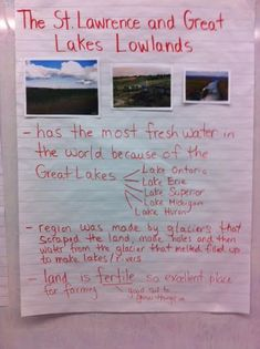Social Studies – Landform Regions in Ontario « Ms. Social Studies Activities, Teaching Social Studies, Teaching Science, Teaching Resources, Anchor Charts First Grade, Grade 3 Science, St Lawrence, Ontario, November 3