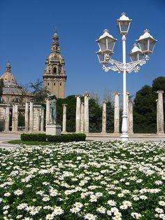 Montjuic Park in Barcelona, Spain