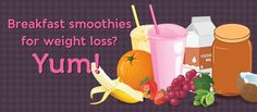 Whether you want to lose weight or just maintain a healthy figure, a great strategy is to switch out your breakfast for a healthy smoothie. We've found five great smoothies to start you off with.