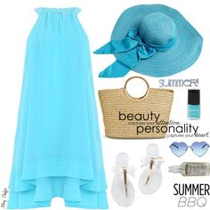 Summer BBQ Style by mcheffer on Polyvore featuring polyvore, fashion, style, Badgley Mischka, Merona, Wildfox, Torrid, Coleman and summerbbq