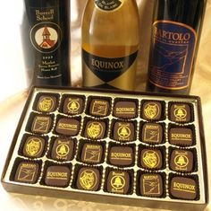 Chocolate - 24 Piece Wine Chocolates From The Santa Cruz Mountains  Assortment of wine chocolates includes chocolates that we make for some of the finest wineries in the Santa Cruz Mountains Appellation in Callifornia
