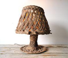 Beach Chic Handmade Wicker Lamp