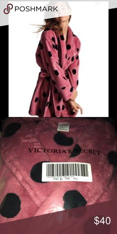 Victoria's Secret PINK Cozy Robe New in unopened packaging! Victoria's Secret PINK cozy Robe. Size M/L. Begonia with black polka dots. Price is firm unless bundled! PINK Victoria's Secret Intimates & Sleepwear Robes