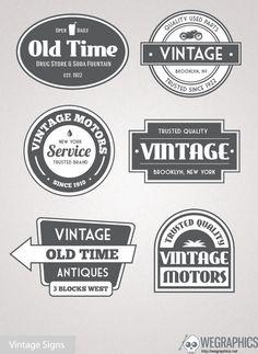 Free Vintage Vector Signs    #Free #Vintage #Vector Signs