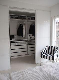 New wardrobe closet ideas ikea pax sliding doors Ideas Bedroom Closet Design, Closet Designs, Home Bedroom, Bedroom Decor, Small Closet Design, Ikea Wardrobe, Bedroom Wardrobe, Ikea Pax Closet, Attic Closet