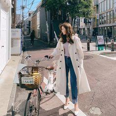 Korean Spring Outfits, Korean Outfit Street Styles, Korean Fashion Winter, Korean Girl Fashion, Korean Fashion Trends, Korean Street Fashion, Ulzzang Fashion, Korea Fashion, Fashion Spring