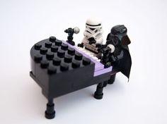 Fun DIY Lego Star Wars Inspiration   Ebony and Ivory by DIY Ready at http://diyready.com/11-diy-lego-star-wars-ideas/