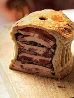 Cold veal and ham pie recipe