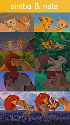 Simba and Nala - Lion King