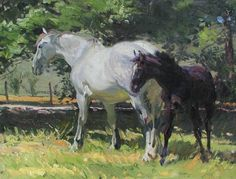 Robert Lougheed, 'The Black Colt' at Mayberry Fine Art