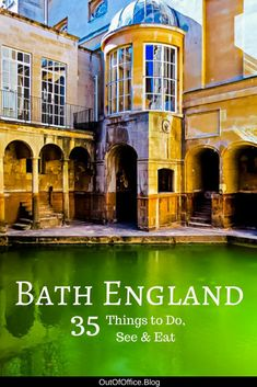 Experience British life during Georgian times, wander the gardens, explore the Roman Bath, taste the famous mineral water, shop along the bridge and eat a Sally Lunn bun. Here are 35 things to do in Bath England Europe Travel Tips, Travel Guides, Travel Destinations, Scotland Travel, Ireland Travel, Scotland Trip, Spain Travel, Cool Places To Visit, Places To Go