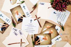 Pojedyncza kartka ze zdjęciem - zaproszenie na 1 Komunię Świętą