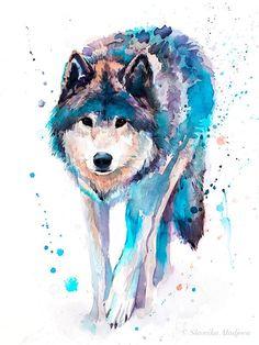 Howling Wolf Wild Nature Art Fresh Modern Canvas Print A3