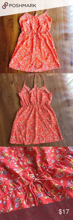 • American Eagle Outfitters • Spaghetti Strap 👗 Adorable floral print dress in Size 4 • Ties at waist • gives at waist • has pockets! Smoke Free Home.   Insta outfit add a Denim Jacket & Boots 👢👢❤️.         I took a long Posh break. I am back selling, my closets overflowing, and vacation plans! Poshing to save for our first Disney Cruise! ⛴⚓️🏝 American Eagle Outfitters Dresses Mini