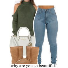 A fashion look from February 2016 featuring UGG Australia ankle booties y MICHAEL Michael Kors tote bags. Browse and shop related looks.