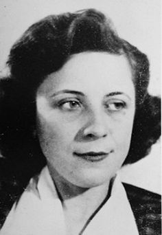 Portrait of Malvina Csizmadia, who was recognized by Yad Vashem as one of the Righteous Among the Nations. [Photograph #89805]