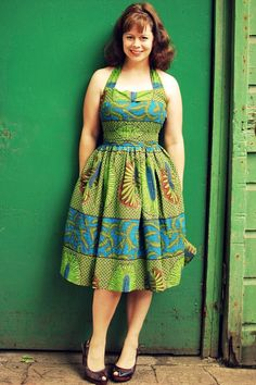 I love how this dress came out using a batik for a vintage pattern, not something I would have normally thought to do