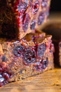 NYT Cooking: Sticky, spicy and full of cranberries, this gingerbread is perfect for the holidays. The recipe has been designed to make ahead, and will taste as good 2 days after baking as it does on the same day. (It will keep for 4 to 5 days.) To store i Cranberry Recipes, Holiday Recipes, Christmas Friends, Cake Recipes, Dessert Recipes, Gateaux Cake, Sweet Bread, Christmas Baking, Just Desserts