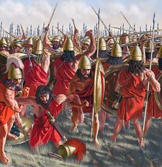 The battle of Leuctra 371 BC by Johnny Shumate.