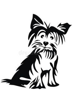 yorkie silhouette - Yahoo Image Search Results Jasmine Silhouette Tattoos, Animal Silhouette, Black Silhouette, Yorkie, Photography Tattoo, Dog Stencil, Stencils, Yellow Lab Puppies, Terrier Breeds