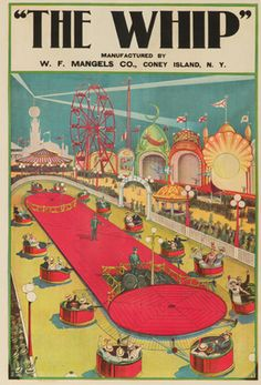 The Whip (Coney Island) Vintage Poster USA c. 1906 | LANTERN PRESS