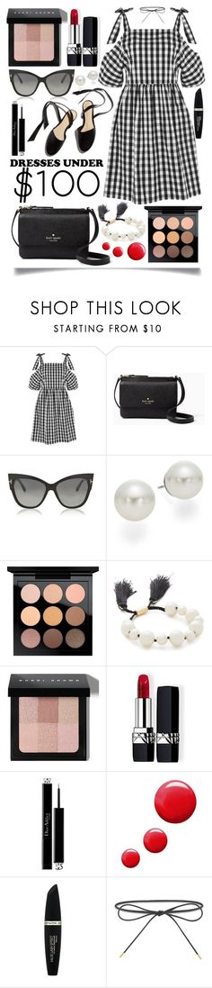 """""""Dresses Under $100"""" by ittie-kittie on Polyvore featuring Topshop, Kate Spade, Tom Ford, AK Anne Klein, MAC Cosmetics, Bobbi Brown Cosmetics, Christian Dior, Max Factor, Elizabeth and James and Summer"""