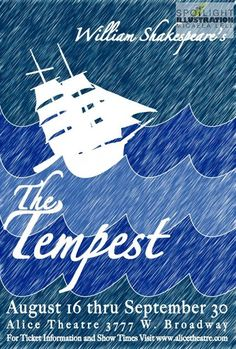 """Bill Shakespeare """"The Tempest"""" Mock up"""