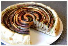 Tarta multicolora cu legume si prosciutto   www.ifyoulovecooking.com Prosciutto, Food Pictures, Pie, Cooking, Ethnic Recipes, Desserts, Pies, Salads, Torte
