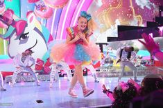 JoJo Siwa performs onstage at Nickelodeon's 2018 Kids' Choice Awards at The Forum on March 24, 2018 in Inglewood, California.