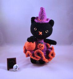Halloween Amigurumi Cat Crochet Cat Amigurumi by PrincessInDreams
