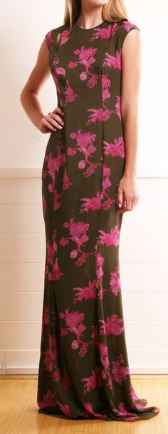 Kevork Kiledjian silk-chiffon maxi dress