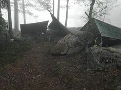 tarps in the morning