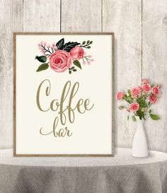 Coffee Bar SignThese beautiful DIY Printable Signs are are a simple yet elegant way to add (another!) special touch to your wedding. Can't you just see one at your ceremony or reception? These also make great gifts.  Enjoy the convenience and affordability of instant download printables  No waiting time, just purchase and print  Both 5